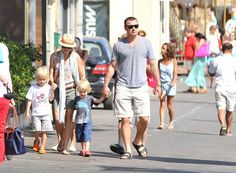 Naomi Watts and Liev Schreiber vacation with their boys Sasha and Kai in St Tropez France on July 15, 2012
