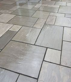 Kandla Grey Sandstone - Patio Slabs - Paving Stones - Nustone Create a traditional feel to your gard Paving Stone Patio, Patio Slabs, Paved Patio, Paving Stones, Stone Patios, Patio Stone, Garden Slabs, Garden Paving, Back Garden Design