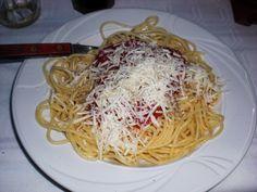 Spaghetti Neopolitian in Kriopigi, Greece