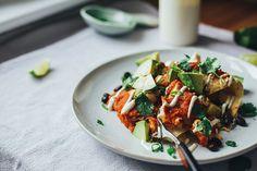 cozy vegan enchiladas w/ lime cream