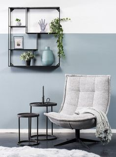 Swivel chair Spider by Coming Lifestyle - Pure Wood - Time to sit down and relax! Swivel armchair Spider is available in different fabric and leather typ - Living Room Grey, Home Living Room, Interior Design Living Room, Blue Furniture, Furniture Design, New Room, Room Decor, House Styles, Bedroom Classic