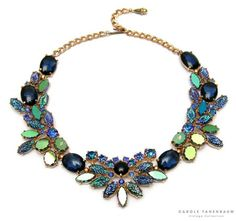 1950s Schiaparelli blue necklace