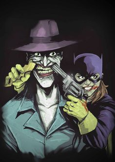 Batgirl, joker after Raphael Alberquerque. The tables have turned