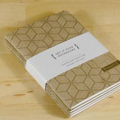 Set of 4 Gold Mini Notebooks by desTroy on Etsy, $16.00