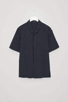 reputable site 7addb e647b COS image 4 of Striped pyjama top in Navy Världen