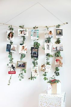 christmas-card-display-ideas-eucalyptus-garland-1