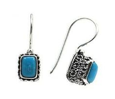 Turquoise Sterling Silver Earrings Indiri E250TQ