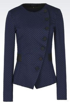 Giacca girocollo in jersey : Giacche Donna by Armani - 1