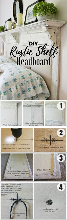 Check out this easy idea on how to build a #DIY #rustic shelf headboard #homedecor #budget #project @istandarddesign