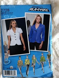 Simplicity Womens Project Runway Jacket Blazer Sewing by Vntgfindz