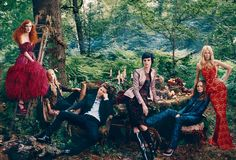 Karen Elson in Alexander McQueen with Sarah Burton, Christopher Bailey with Stella Tennant in Burberry Prorsum and Stella McCartney with Claudia Schiffer in Stella McCartney, by Norman Jean Roy for Vogue US September 2012 Karen Elson, Sarah Burton, Stella Mccartney, Diane Kruger, Claudia Schiffer, Burberry Prorsum, Norman Jean Roy, Alexander Mcqueen, Vogue Photoshoot
