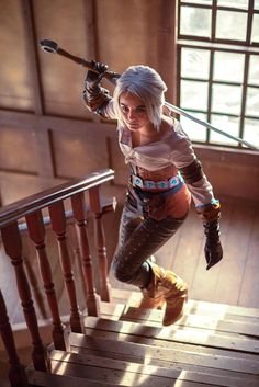 Ciri, from The Witcher. Anime Cosplay, Cosplay Girls, Witcher Art, The Witcher 3, Ciri Witcher, Fantasy Warrior, Fantasy Girl, Amazing Cosplay, Best Cosplay