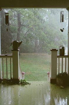 porch . rain