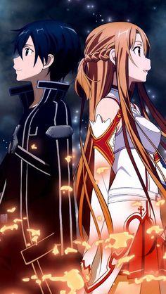 Sword Art Online - Fond d'écran - Kirito - Asuna