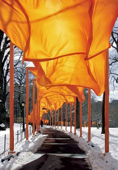"I know some contest the consideration of ""art"" with Christo and Jeanne-Claude.  But I am just inspired by the sheer vastness of their vision, planning, and execution of these works.  The next installation is due to be compleeted about 2014 in Colorado..."