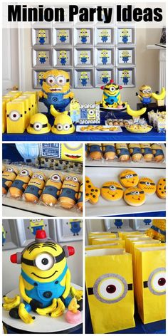 From kid-friendly party snacks to DIY party favors and decoration ideas, find all the inspiration you need for your next Minion themed birthday party. Have Bounty's new Minion paper towels on hand for whatever mishaps may occur! 4th Birthday Parties, Birthday Fun, Birthday Ideas, Festa Party, Diy Party, Despicable Me Party, Minion Party Food, Party Deco, Minion Birthday