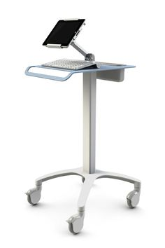 Hospital computer cart is useful for every person working in a hospital whether they are doctors, nurses, administrative officers, etc. Dental Office Design, Medical Design, Healthcare Design, Laptop Tray Table, Computer Cart, Office Screens, Corporate Interiors, Art Storage, Tiny House Cabin