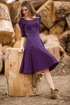 bdcace3b4bf Striped Alana Dress from the Timbers and Twine Collection by Shabby Apple Modest  Dresses For Women