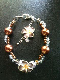 Brown Flower Bracelet, order the Anklet too http://www.shop.donnasjewelryboxdallas.com/