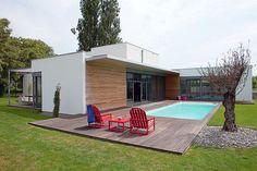 4. Une maison contemporaine à ossature bois - 30 photos pour une maison de rêve à la mode écolo - CôtéMaison.fr