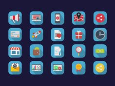 Here's a colourful & flat set of basic #icons