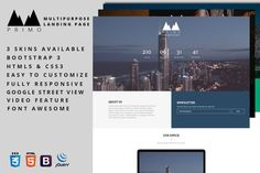 Primo - Multipurpose Landing Page. Bootstrap Themes. $6.00