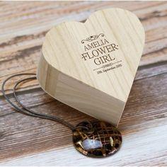 Personalised Heart Trinket for Flower Girls - Mr and Mrs Range