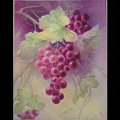 Red Grapes on 8 x 10 - Tile Paula Collins Studies