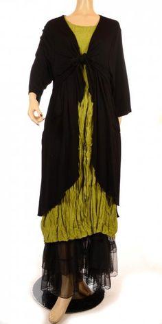 Amandine Beautiful Black Long Lagenlook Petticoat