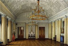 Interiors of the Winter Palace. The Arab Hall or Large Dining-Room