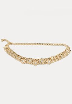 bebe Floral Chain Belt Clothes For Sale, Clothes For Women, Chain Belts, Contemporary Fashion, Chic, Diamond, Bracelets, Floral, Gold