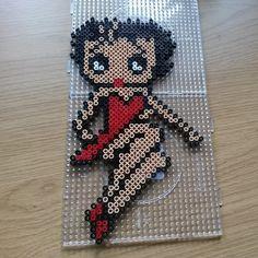 Betty Boop perler beads by sofie_lotberg