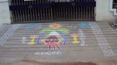 Pongal kolam - this site has a few more really big ones