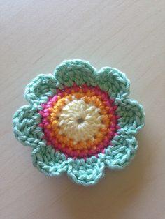 Sherbet #Crochet flower hair clip