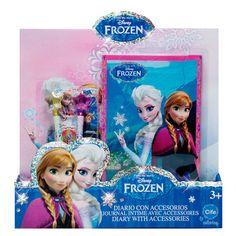Agenda Glitter con Accesorios Frozen