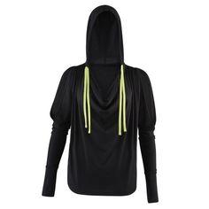 Zumba Fitness Damen Outerwear Cold Shoulder Hoodie, Sew Black, XS, Z1T00661