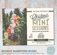 Holiday Mini Sessions - Christmas Photography Marketing - Photoshop template - IC023 - INSTANT DOWNLOAD