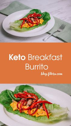 Breakfast wraps meets the keto diet! With a yummy lettuce to wrap mouth-watering fillings, this is the ultimate breakfast for a low-carb diet. Make Ahead Breakfast Burritos, Breakfast Wraps, Vegetarian Breakfast, Sausage Breakfast, Sausage And Egg, Sausage Wrap, Burrito Wrap, Keto Recipes, Healthy Recipes