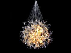 Kronleuchter Glas Chandelini-Touch Design-Schaufenster Beleuchtung Dekoideen