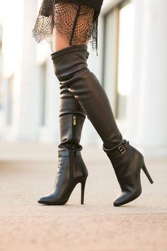 Black boots just over the knee - Jimmy Choo
