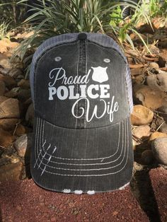 Proud Police Wife Cap – The Grapevine Boutique Police Officer Crafts, Police Officer Wedding, Police Officer Wife, Military Wife, Police Wife Quotes, Police Wife Life, Police Humor, Nurse Humor, Sheriff Deputy Wife
