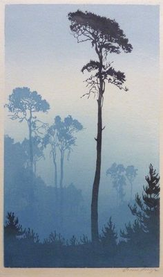 Oscar Droege 1898 - 1982, woodblock