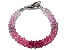 Kumihimo Braided Bracelet Kit - Pretty in Pink from Nosek's Just Gems