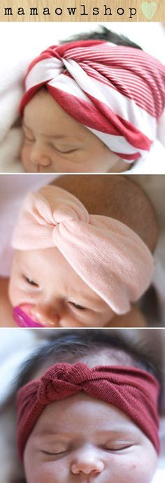 Baby Head Wraps..no instructions. I'm sure I can figure it out.