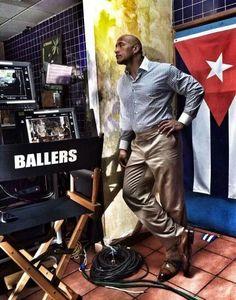 Dwayne Johnson on the set of HBO's Ballers (640×814)