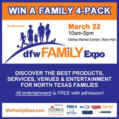 Looking for a FUN, FAMILY FRIENDLY activity? Head to the 5th AnnualDFW Family Expo for a day of fun for parents and kids! via dallasmomsblog.org #DFWFamilyExpo #familyfriendly #Dallas