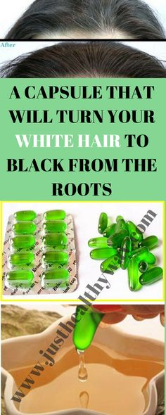 It will nourish the scalp of your hair very well and soon you will notice that soon all the white hair will begin to turn black by the roots. Grey Hair Remedies, Hair Remedies For Growth, Hair Loss Remedies, Hair Growth, Natural Remedies, White Hair Treatment, Hair Treatments, Natural Treatments, White Hair