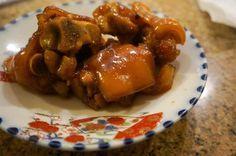 sweet and sour pork, sweet and sour, sweet, sour, pig's feet, pork, sweet and sour pig's feet, recipe, mensoregirl, food, okinawan recipe, okinawa, okinawa recipe, mensore, girl