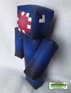 Plush Minecraft inspired iBallisticSquid Toy by CraftingNerdy, $17.99