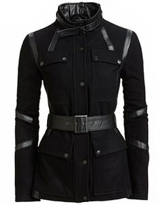 """Danier, leather fashion and design. I saw this in a fashion magazine and I was all like """" oh my...that is the most amazing jacket I've ever seen!"""""""